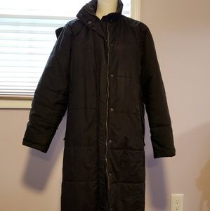 EUC LL Bean full length puffer coat